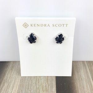 Kendra Scott Tessa black silver earrings